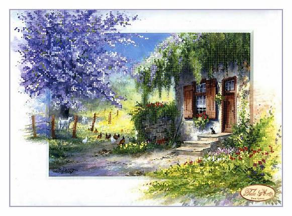 """Рисунок на ткани для вышивания бисером """"Деревенская романтика"""", фото 2"""
