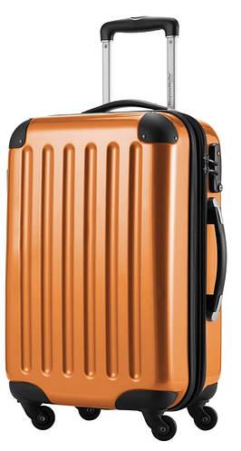 Большой пластиковый чемодан 4-колесный 87 л. HAUPTSTADTKOFFER alex midi orange оранжевый