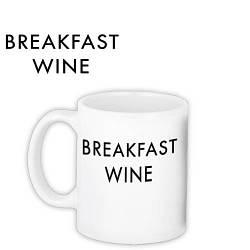 Кружка с принтом Breakfast wine 330 мл (KR_COF004)