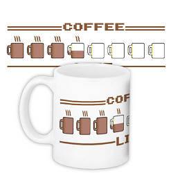 Кружка с принтом Coffee 330 мл (KR_CT009)