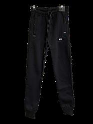 Спортивные штаны на флисе Climacourt для мальчика, подростка, теплые штаны цвет черный