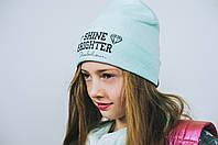 Детская шапка (набор) для девочек ШАДИ оптом размер 50-52-54