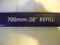Резинки на каркассные дворники  700 мм