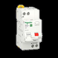 Дифавтомат Выключатель дифференциального тока Schneider Electric, 25A, 1P+N, C, 30mA, 6кА (R9D25625), фото 1