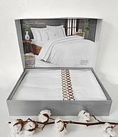 Постельное белье Maison D'or сатин с вишивкой 200х220 Premium Beige