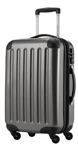 Практичный большой 4-колесный чемодан из прочного пластика 87 л. HAUPTSTADTKOFFER alex midi titan титановый