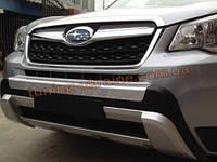 Накладки на бампер передняя и задняя Subaru Forester 2013+