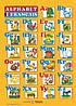 Плакат. Французький алфавіт для учня. Прописні та друковані літери (формат А4).