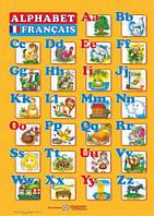 Плакат. Французький алфавіт для учня. Прописні та друковані літери