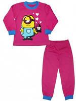 "Пижама для девочки ""Миньон"" код 27-2-2029"