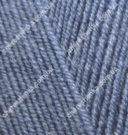 Нитки Alize Lanagold Fine 203 джинс меланж, фото 2