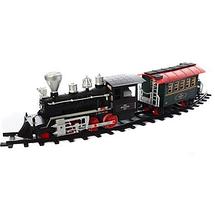 Детская игрушечная железная дорога Эра паровозов Limo Toy 650 см Звуковые и световые эффекты ЖД с поездом, фото 2