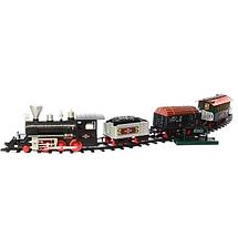 Детская игрушечная железная дорога Эра паровозов Limo Toy 650 см Звуковые и световые эффекты ЖД с поездом, фото 3