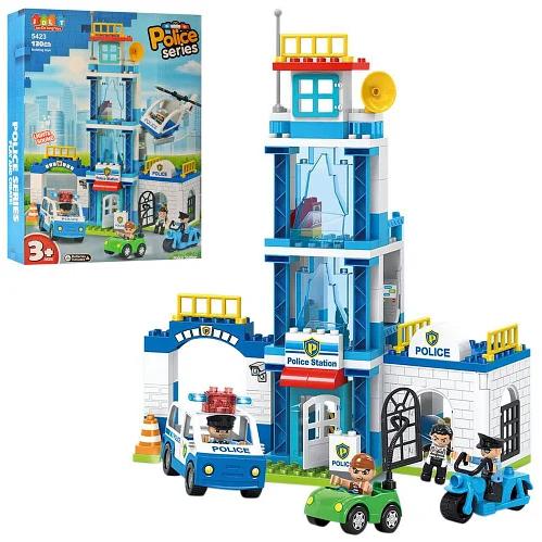 Дитячий конструктор Поліцейський відділок JDLT 5423 130 деталей Для хлопчиків і дівчаток Іграшка поліція