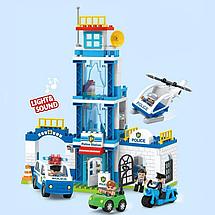 Дитячий конструктор Поліцейський відділок JDLT 5423 130 деталей Для хлопчиків і дівчаток Іграшка поліція, фото 3