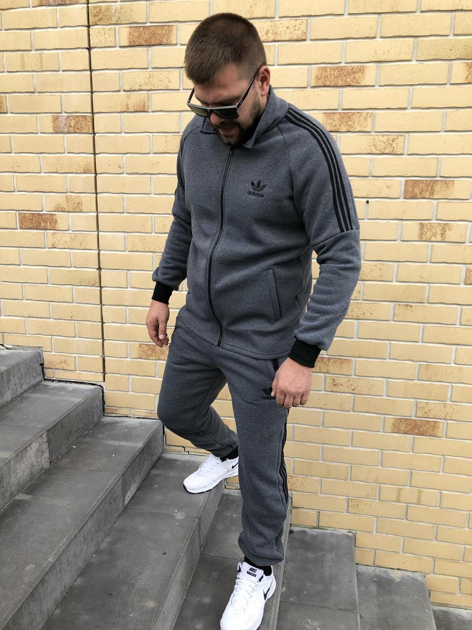 Спортивный костюм мужской Adidas Утепленный на флисе