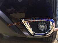 Хром протвотуманных фар (галогенок) на Subaru Forester 2013+