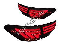 Задние тюнинг фонари Toyota Highlander 3 `2014+ светодиодные, тонированные