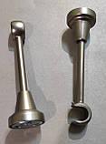 Карниз для штор металевий ТАДЖА з кристалом однорядний 16мм 1.6 м Сатин нікель, фото 3