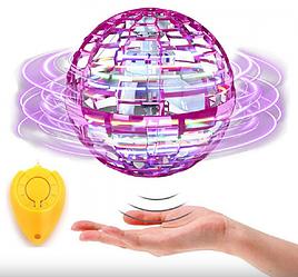 Літаючий світна куля Flynova Pro (сенсорний) 3 режими Рожевий