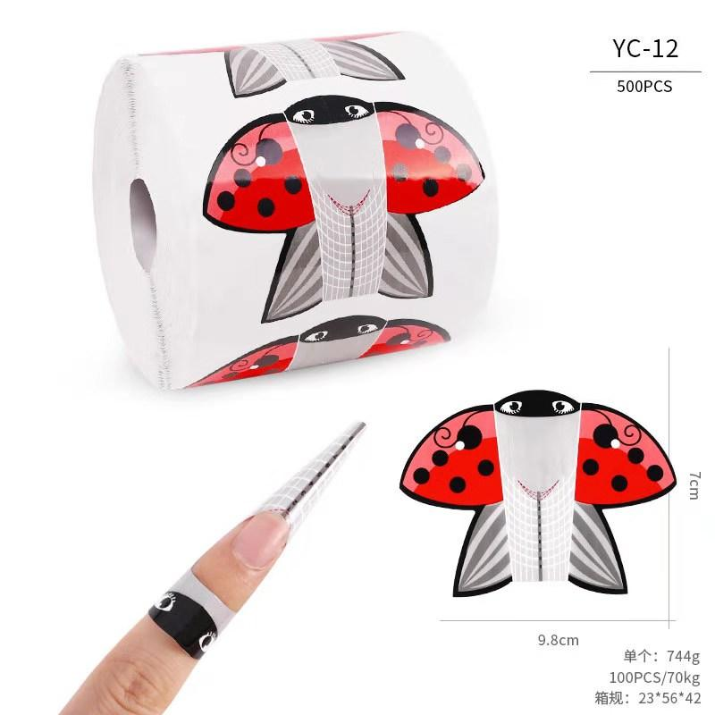 Форма для наращивания ногтей, широкая на 500 штук.