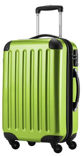 Модный большой яркий 4-колесный пластиковый чемодан 87 л. HAUPTSTADTKOFFER alex midi apple салатовый