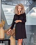 Вільне гарне плаття, ззаду на потаємний змійці, з кишенями з боків 50-52, 54-56, малина, пудра (Батал), фото 6