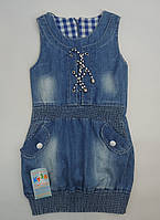 Модный джинсовый сарафан для девочки 8-12 лет