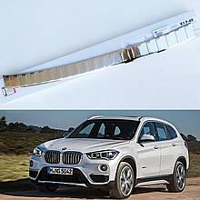 Захисна накладка на задній бампер для BMW X1 F48 2015-2020, LIFT 2020+ /нерж.сталь/