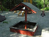 Песочницы и балансир деревянные