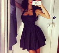 Вечернее платье женское черное бейби дол ХС