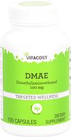 Диметиламіноетанол, Vitacost, DMAE, 100 мг, 100 капсул, знижка