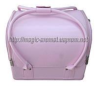 Бьюти-кейс. сумка для мастеров индустрии красоты. Цвет - светло-розовый матовый. Размеры 30х26х23