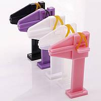 """Зажим """"Струбцина"""" для поджатия и фиксации арки, цвет(розовый, фиолетовый и черный)"""
