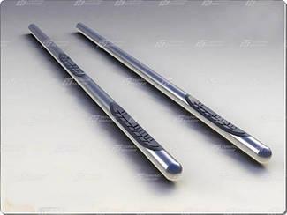 Бічні підніжки (труба) Ергюн Kia Sportage 2003-2010