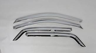 Вітровики (хром) Clover Kia Sportage 2003-2010
