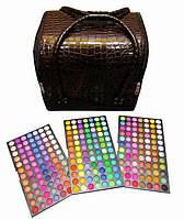 Бюти-кейс для косметики с полочками. Цвета в ассортименте + самая большая палитра теней 252 цвета.