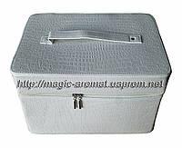Сумка-чемодан для мастеров маникюра и педикюра, большой вместительный кейс для визажиста, белый лаковый