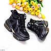 Круті чорні жіночі зимові кросівки снікерси в асортименті 36-23см, фото 3