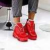 Круті яскраві червоні жіночі зимові кросівки снікерси в асортименті, фото 3