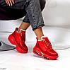 Круті яскраві червоні жіночі зимові кросівки снікерси в асортименті, фото 6