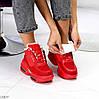Круті яскраві червоні жіночі зимові кросівки снікерси в асортименті, фото 9