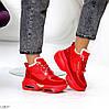 Круті яскраві червоні жіночі зимові кросівки снікерси в асортименті, фото 8