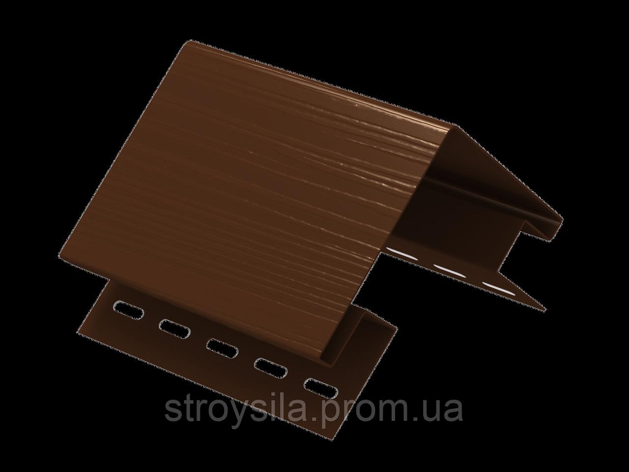 Наружный угол ″Ю-Пласт″ коричневый 3,05м