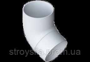 Колено трубы 67° ПВХ , 95 бел.Альта-Профиль
