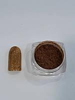 Новинка! Втирка для дизайна ногтей с микроблестками(оранжевый)