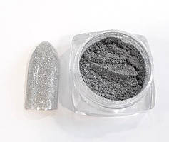 Новинка! Втирка для дизайна ногтей с микроблестками(серебро)