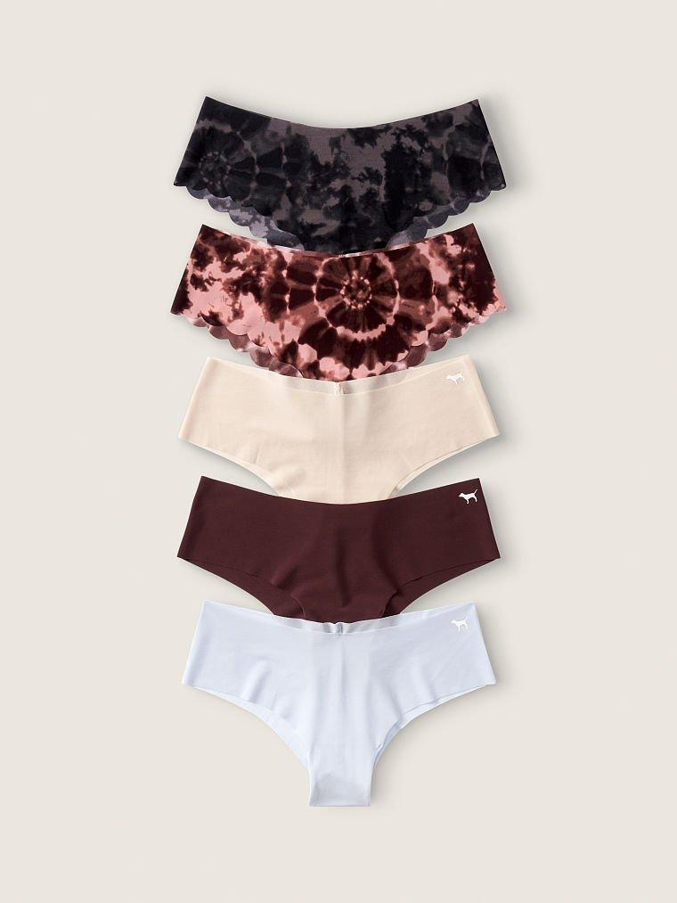 Безшовні трусики Victoria's Secret PINK No Show Cheekster Panty, Набір 5 шт