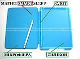 Голубой чехол книжка на Apple Ipad 10.2 (ipad 9/8/7) слот для стилуса ivanaks Pencil Holder, фото 3