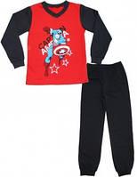 "Пижама подростковая мальч ""Капита́н Аме́рика""  код 94-3-2010-Н"